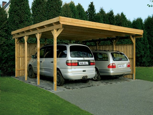Carport port en bois simple
